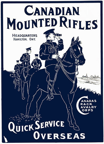 Canadian Mounted Rifles - 1914 - Military Recruitment Poster