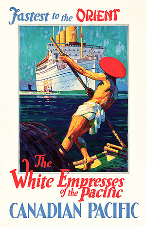 Canadian Pacific - Fastest In Orient - The White Empress - 1933 - Travel Poster