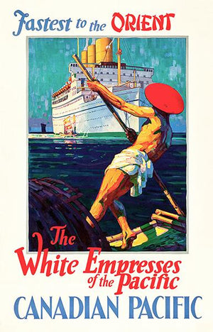 Canadian Pacific - Fastest In Orient - The White Empress - 1933 - Travel Poster Magnet