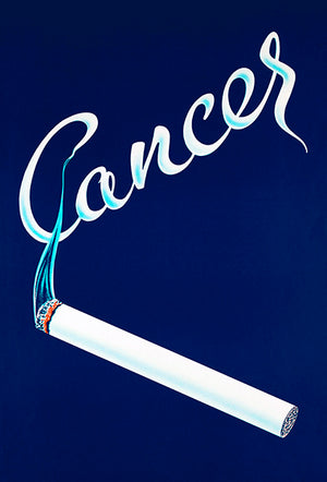 Cancer - Stop Smoking - 1958 - Health Poster