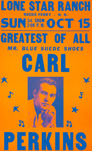 Carl Perkins - 1961 - Mr. Blue Suede Shoes - Concert Poster