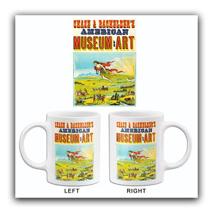 Chase & Bachelder's American Museum Of Art - 1880 - Promotional Advertising Mug