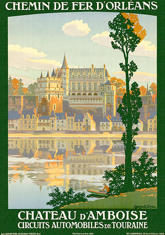 Chateau d'Amboise - France - Automobiles de Touraine - 1922 - Travel Poster