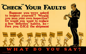Check Your Faults - 1923 - Motivational Poster