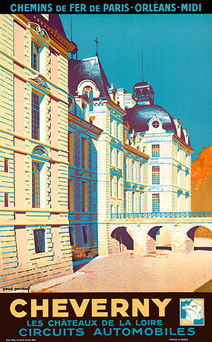 Cheverny - France - 1935 - Travel Poster