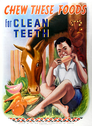 Chew These Foods For Clean Teeth - 1950's - Health Mug