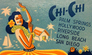 Chi-Chi Restaurants - 1950's - Southern California - Matchbook Advertising Poster