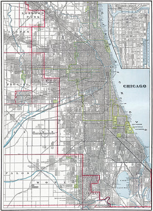Chicago - 1901 - Map Poster