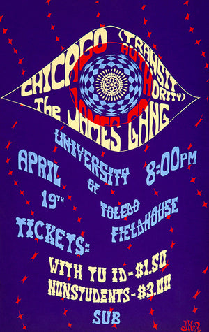 Chicago Transit Authority - The James Gang - 1970 - Concert Magnet