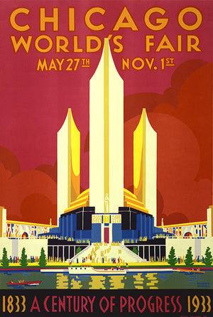 Chicago World's Fair - 1933 - Promotional Advertising Poster