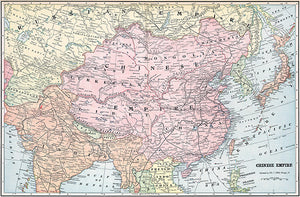 Chinese Empire - 1901 - Map Poster