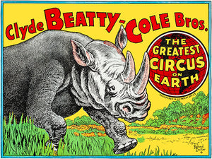 Clyde Beatty-Cole Bros - The Greatest Circus On Earth - 1950's - Circus Magnet