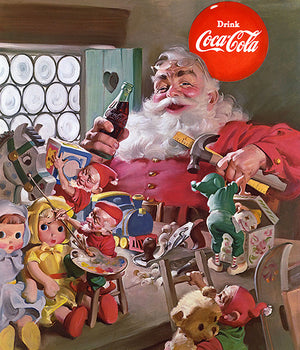 Coca-Cola - Santa Toys - 1953 - Promotional Advertising Poster