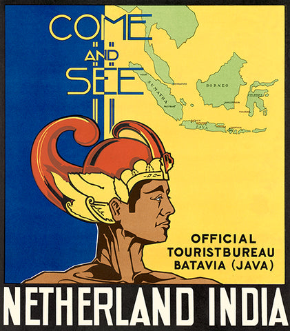Come And See Netherland India - Batavia Java - 1930's - Travel Poster