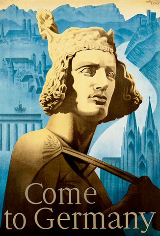 Come To Germany - Sculpture - 1930's - Travel Poster