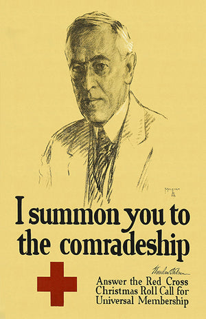 Comradeship - Red Cross - 1918 - World War I - Propaganda Magnet