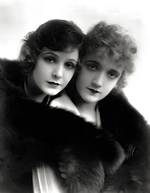 Constance & Norma Talmadge - Movie Star Portrait Poster