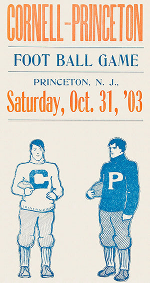Cornell vs Princeton Football Game - 1903 - Promotional Advertising Poster