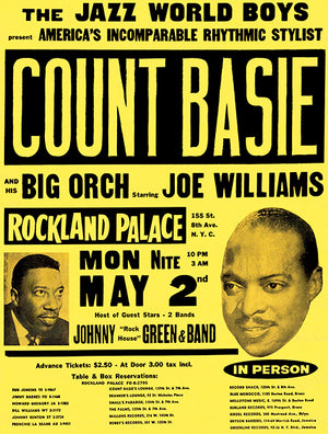 Count Basie - 1965 - Rockland Palace - Concert Poster