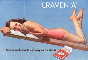 Craven A Cigarettes - Cool, Smooth & Easy - 1939 - Advertising Poster