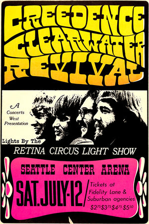 Creedence Clearwater Revival - 1969 - Seattle WA - Concert Magnet