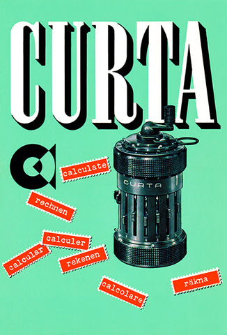 Curta Calculator - 1954 - Leaflet Cover Poster