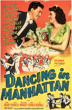 Dancing In Manhattan - 1944 - Movie Poster