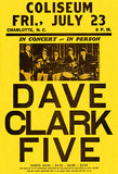 Dave Clark Five - 1965 - Charlotte NC - Concert Poster