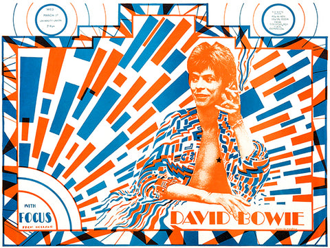 David Bowie - Ziggy Stardust - University Union - 1972 - Concert Poster