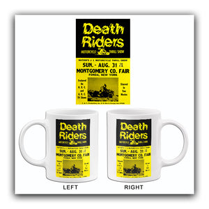 Death Riders Motorcycle Thrill Show - 1975 - Promotional Advertising Mug