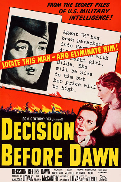 Decision Before Dawn - 1951 - Movie Poster