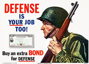 Defense Is Your Job Too - 1951 - Korean War - Propaganda Poster