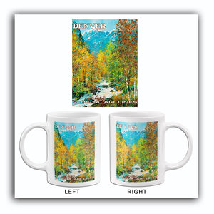 Denver - Delta Air Lines - 1970's - Travel Poster Mug