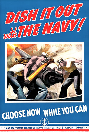 Dish It Out With The Navy - 1942 - World War II - Propaganda Magnet