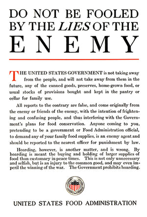 Do Not Be Fooled By The Lies Of Enemy - 1917 - Wolrd War I - Propaganda Mug