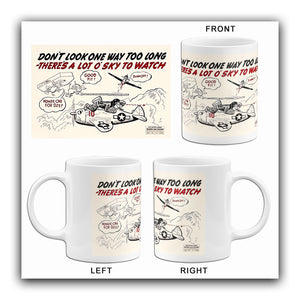 Don't Look One Way Too Long - 1944 - Training Aids Aviation Mug