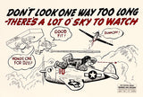 Don't Look One Way Too Long - 1944 - Training Aids Aviation Poster