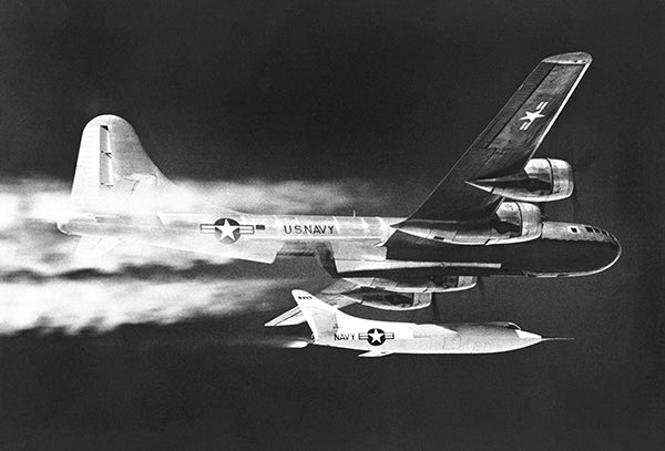 Douglas D-558-II - Launch From P2B-1S (B-29) - 1953 - Photo Poster