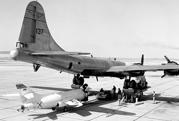 Douglas D-558-II & P2B-1S (B-29) Launch Aircraft - 1953 - Photo Poster