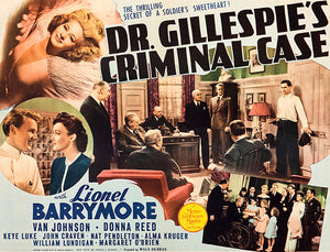Dr Gillespie's Criminal Case - 1943 - Movie Poster