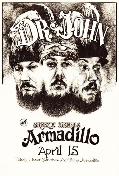 Dr. John - Armadillo - 1974 - Concert Poster