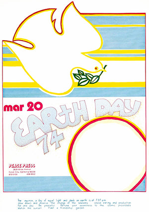 Earth Day - Peace Press - The Equinox - 1974 - Mug