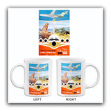 East African Airways - Jet To The Sun - Super VC 10 - 1960's - Travel Poster Mug