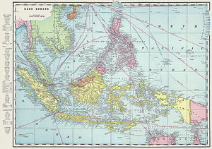 East Indies - 1901 - Map Poster