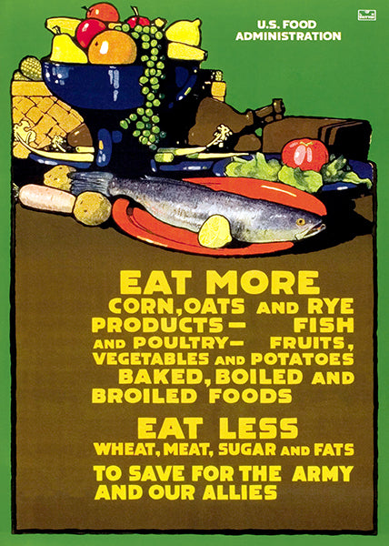 Eat More - 1918 - World War I - Propaganda Mug