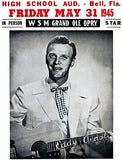 Eddy Arnold - 1945 - Bell Florida High School - Concert Poster