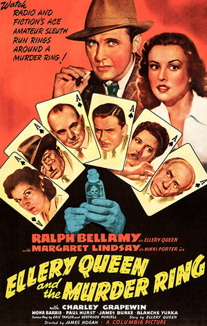 Ellery Queen And The Murder Ring - 1941 - Movie Poster Magnet