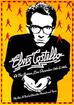 Elvis Costello - The Bottom Line - New York - My Aim Is True US Tour - 1977 - Concert Poster
