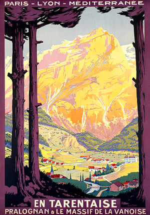 En Tarentaise - Paris Lyon Mediterranee - France - 1930's - Travel Poster