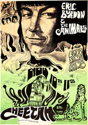 Eric Burden & The Animals - 1967 - Cheetah Club - Concert Poster